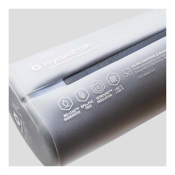 Hydrapak Ultraflask IT 500 ML Vest Compatible IsoBound™ insulation Running Water Bottle - Info