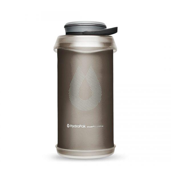 HydraPak Stash 1L Flexible Bottle - Mammoth Grey