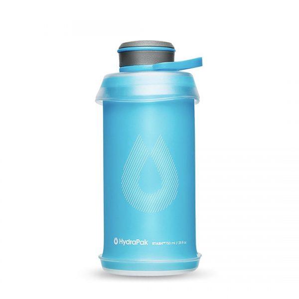 HydraPak Stash 750ml Flexible Bottle - Malibu Blue