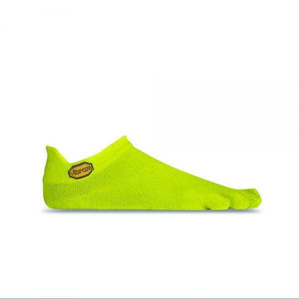 Vibram 5TOE Athletic No Show Toe Socks (Yellow)