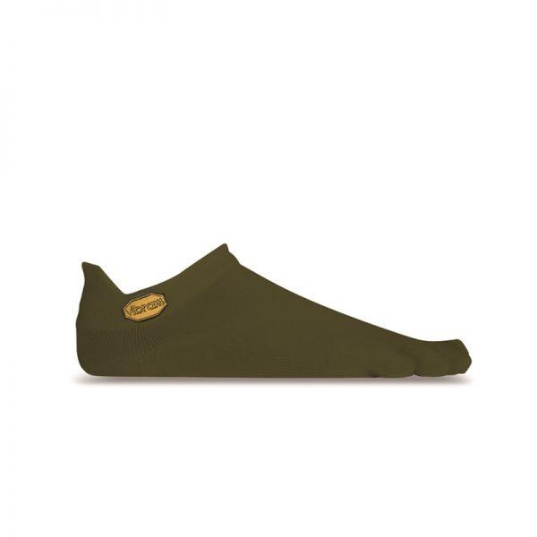 Vibram 5TOE Athletic No Show Toe Socks (Military Green)