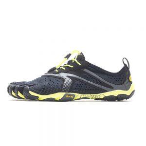 Vibram FiveFingers Mens V-RUN Minimalist Running Shoe - Black/Yellow - Side