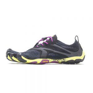 Vibram Fivefingers Womens V-RUN Minimalist Running Shoes - Black/Yellow/Purple - Side