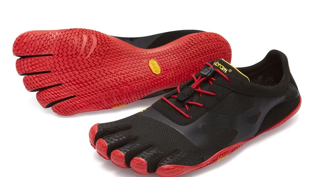 Vibram FiveFingers Mens KSO EVO Minimalist Running Shoes - Black/Red