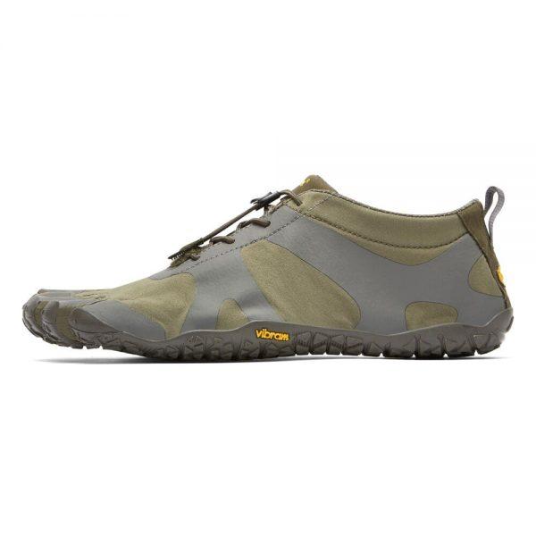 Vibram FiveFingers Mens V-ALPHA Minimalist Shoe - Military/Dark Grey - Side