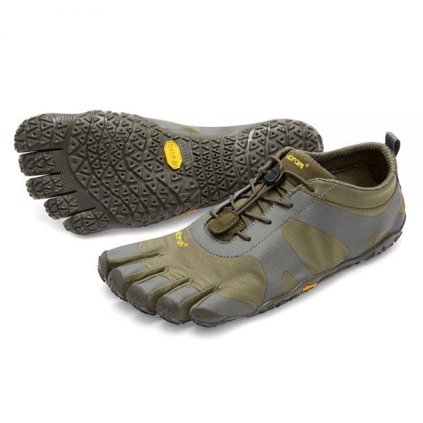 Vibram FiveFingers Mens V-ALPHA Minimalist Shoe - Military/Dark Grey