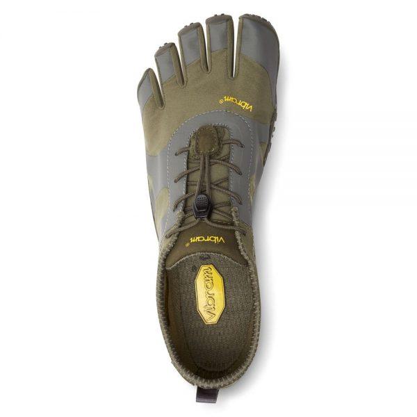 Vibram FiveFingers Mens V-ALPHA Minimalist Shoe - Military/Dark Grey - Top