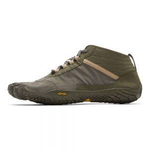 Vibram FiveFingers Mens V-TREK Minimalist Trail Shoe - Military/Dark Grey - Side