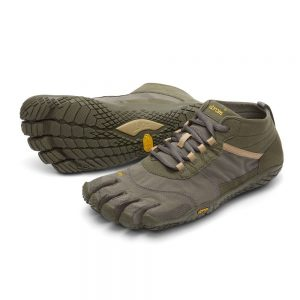 Vibram FiveFingers Mens V-TREK Minimalist Trail Shoe - Military/Dark Grey