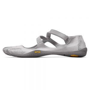 Vibram Fivefingers Womens V-SOUL Minimalist Indoor Training Shoes - Silver/Light Grey - Side