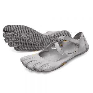 Vibram Fivefingers Womens V-SOUL Minimalist Indoor Training Shoes - Silver/Light Grey