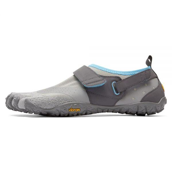 Vibram FiveFingers Womens V-AQUA Running Shoes - Light Grey/Blue - Side