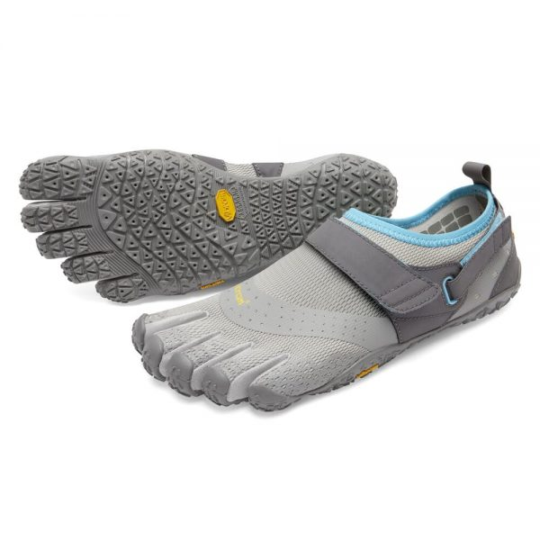 Vibram FiveFingers Womens V-AQUA Running Shoes - Light Grey/Blue