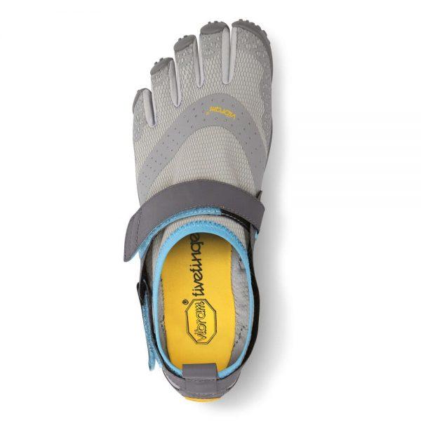Vibram FiveFingers Womens V-AQUA Running Shoes - Light Grey/Blue - Top
