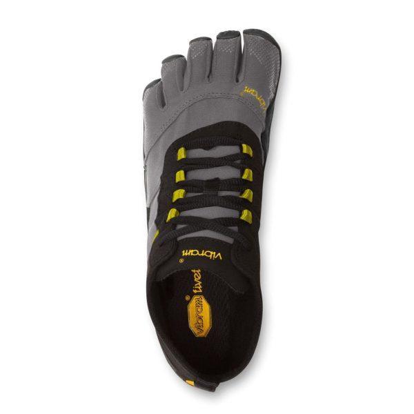Vibram FiveFingers Mens V-TREK Minimalist Trail Shoe - Black/Grey - Top