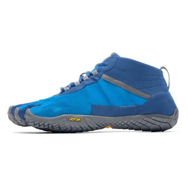 Vibram FiveFingers Mens V-TREK Minimalist Trail Shoe - Blue/Grey - Side