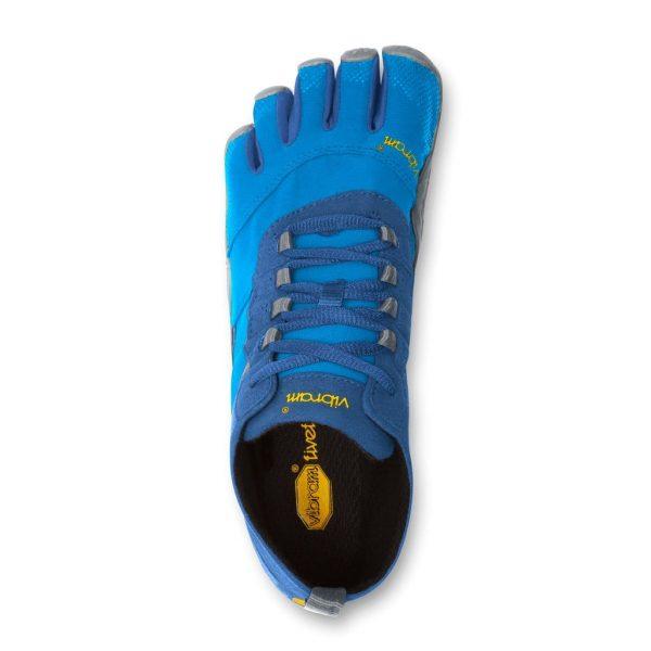 Vibram FiveFingers Mens V-TREK Minimalist Trail Shoe - Blue/Grey - Top