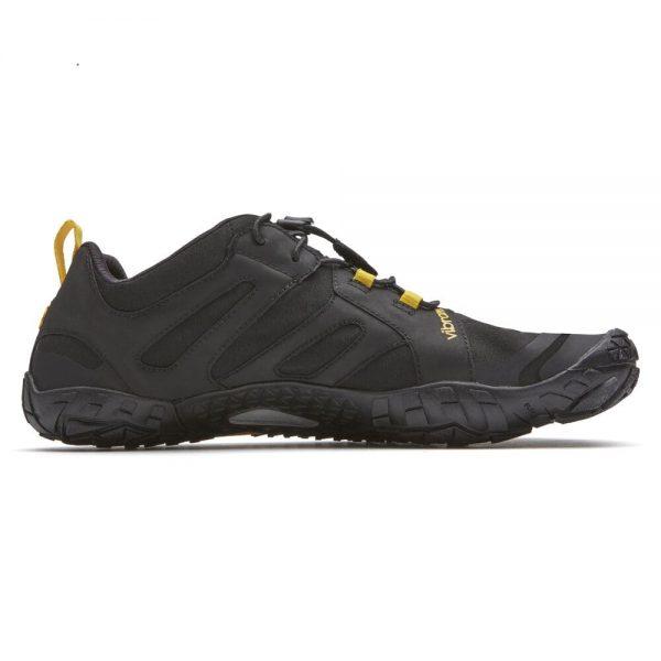 Vibram FiveFingers Mens V-TRAIL 2.0 Minimalist Trail Shoe - Black/Yellow - Side