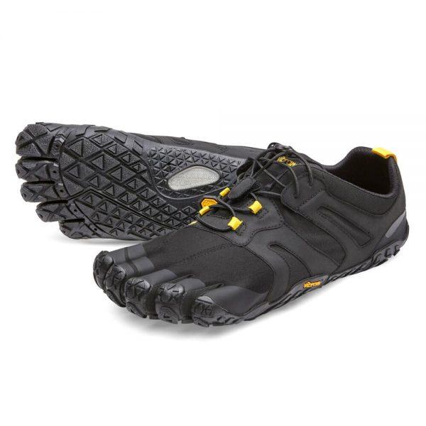 Vibram FiveFingers Mens V-TRAIL 2.0 Minimalist Trail Shoe - Black/Yellow
