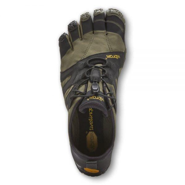 Vibram FiveFingers Mens V-TRAIL 2.0 Minimalist Trail Shoe - Ivy/Black - Top
