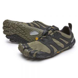 Vibram FiveFingers Mens V-TRAIL 2.0 Minimalist Trail Shoe - Ivy/Black