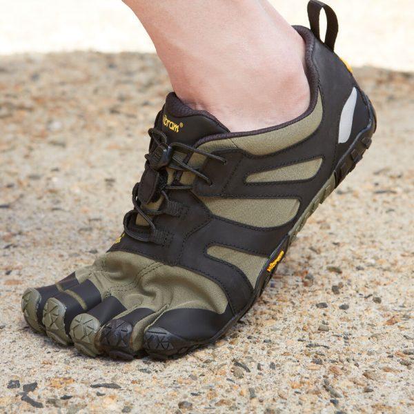Vibram FiveFingers Mens V-TRAIL 2.0 Minimalist Trail Shoe - Ivy/Black - Lifestyle