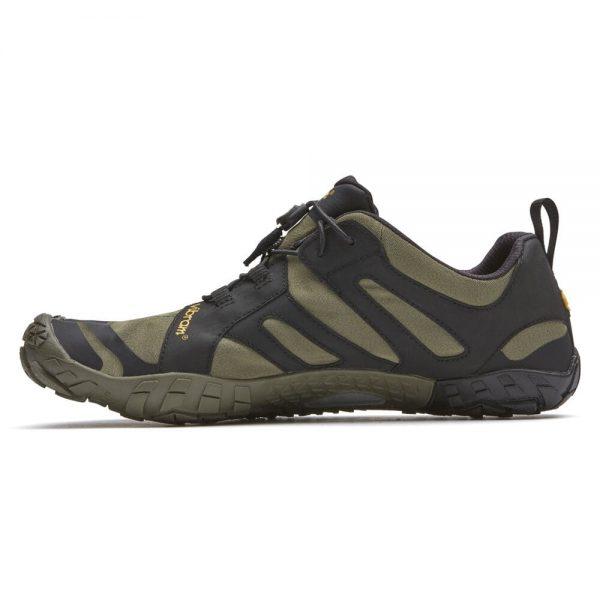 Vibram FiveFingers Mens V-TRAIL 2.0 Minimalist Trail Shoe - Ivy/Black - Side