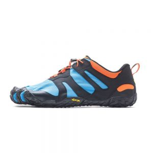 Vibram FiveFingers Mens V-TRAIL 2.0 Minimalist Trail Shoe - Blue/Orange - Side