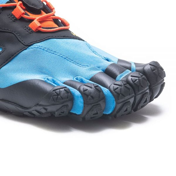 Vibram FiveFingers Mens V-TRAIL 2.0 Minimalist Trail Shoe - Blue/Orange - Toes