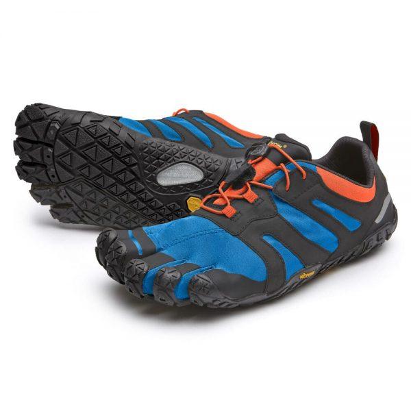 Vibram FiveFingers Mens V-TRAIL 2.0 Minimalist Trail Shoe - Blue/Orange