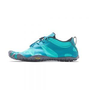 Vibram FiveFingers Womens V-ALPHA Minimalist Running Shoes - Teal/Grey - Side