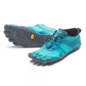 Vibram FiveFingers Womens V-ALPHA Minimalist Running Shoes - Teal/Grey