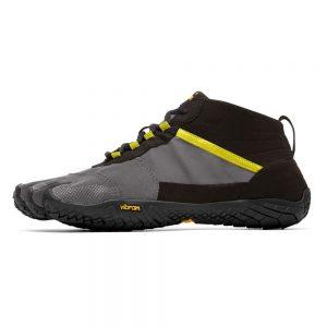 Vibram Fivefingers Womens V-TREK Minimalist Running Shoes - Black/Grey/Citronelle - Side