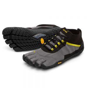 Vibram Fivefingers Womens V-TREK Minimalist Running Shoes - Black/Grey/Citronelle
