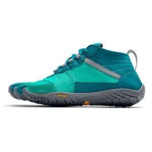 Vibram Fivefingers Womens V-TREK Minimalist Running Shoes - Teal/Grey - Side
