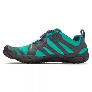 Vibram Fivefingers Womens V-TRAIL 2.0 Minimalist Running Shoes - Green-Grey/Black - Side