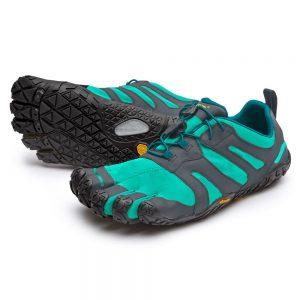 Vibram Fivefingers Womens V-TRAIL 2.0 Minimalist Running Shoes - Green-Grey/Black