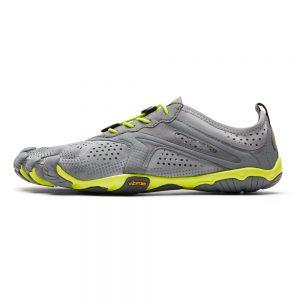 Vibram FiveFingers Mens V-RUN Minimalist Running Shoe - Grey/Yellow - Side