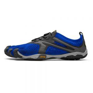 Vibram FiveFingers Mens V-RUN Minimalist Running Shoe - Blue/Black - Side