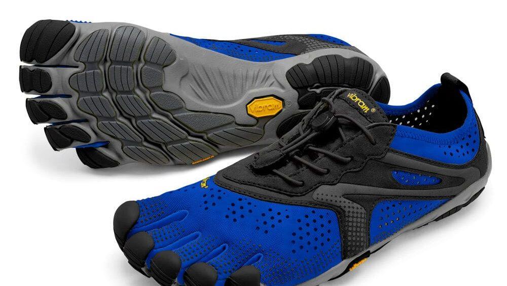 Vibram FiveFingers Mens V-RUN Minimalist Running Shoe - Blue/Black