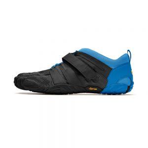 Vibram FiveFingers Mens V-TRAIN 2.0 Minimalist Training Shoe - Black/Blue - Side