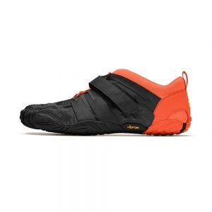 Vibram FiveFingers Mens V-TRAIN 2.0 Minimalist Training Shoe - Black/Orange - Side