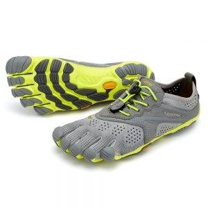 Vibram Fivefingers Womens V-RUN Minimalist Running Shoes - Grey/Yellow