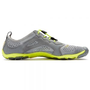 Vibram Fivefingers Womens V-RUN Minimalist Running Shoes - Grey/Yellow - Side