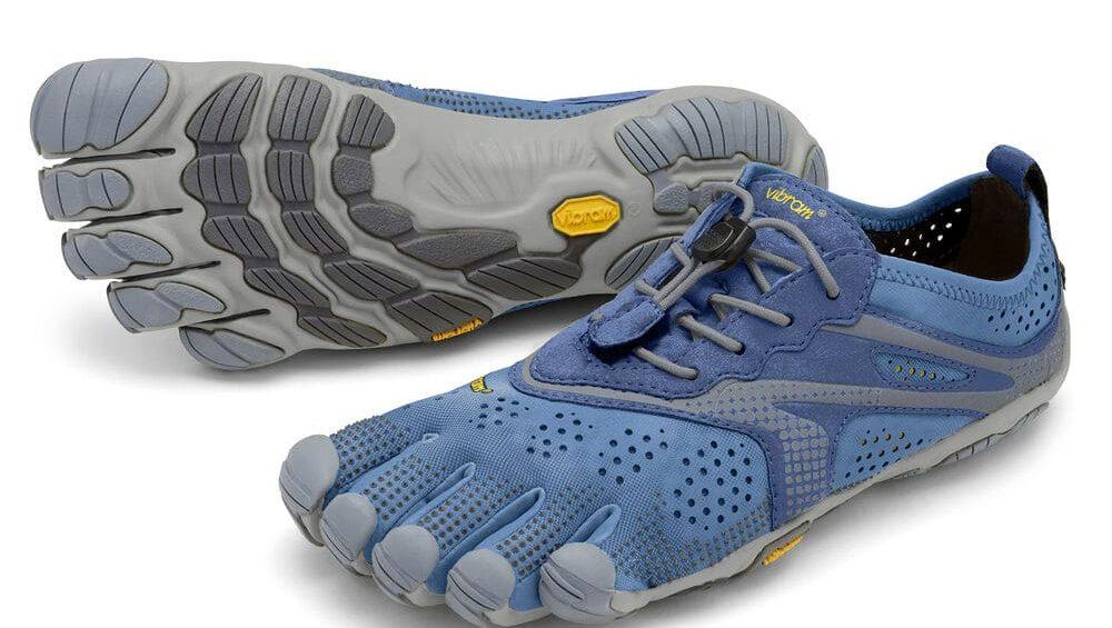 Vibram Fivefingers Womens V-RUN Minimalist Running Shoes - Blue/Blue
