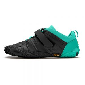 Vibram FiveFingers Womens V-TRAIN 2.0 Minimalist Training Shoe - Black/Green - Side