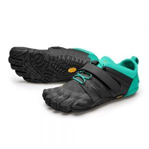 Vibram FiveFingers Womens V-TRAIN 2.0 Minimalist Training Shoe - Black/Green