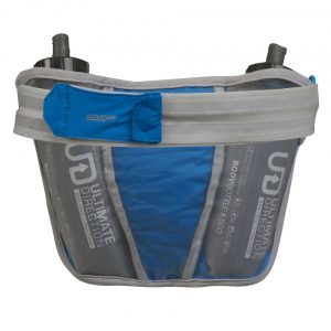 Ultimate Direction Ultra Belt 5.0 & 2 x 500ml Body Bottle - Signature Blue - Back