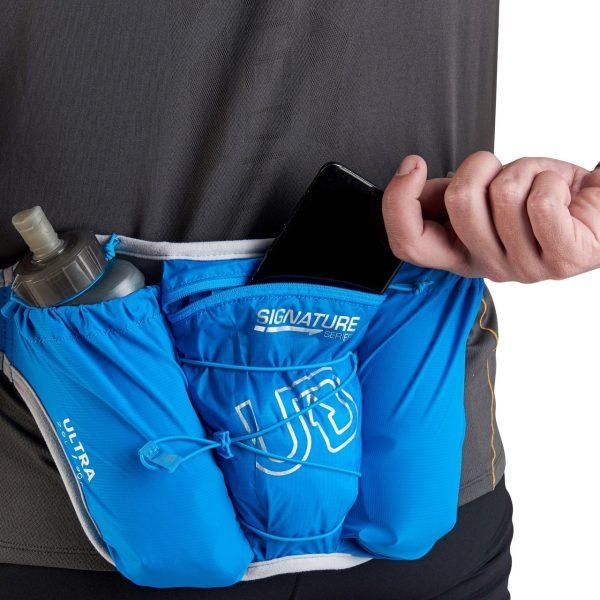 Ultimate Direction Ultra Belt 5.0 & 2 x 500ml Body Bottle - Signature Blue - Storage