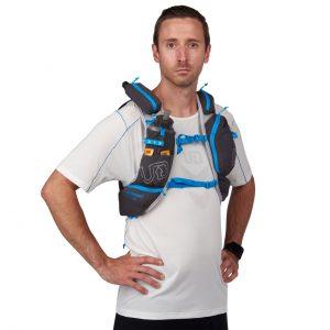 Ultimate Direction Adventure Vest 5.0 - Mens Large Capacity Running Vest - Night Sky - Model Front